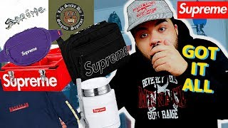 SUPREME Fw18 Week 1 LIVE COP! I GOT EVERYTHING!! (Manual Checkout)