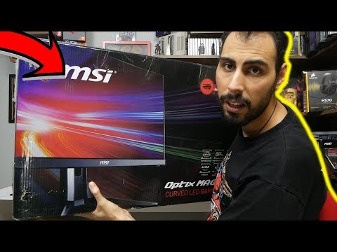 video MSI Optix MAG271CR 27″ Curved Monitör