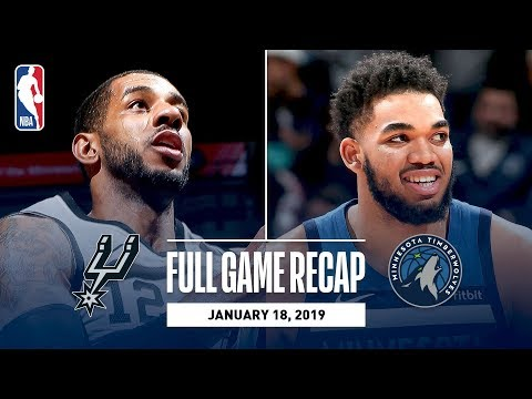 Full Game Recap: Spurs vs Timberwolves | LaMarcus Aldridge Leads All Scorers