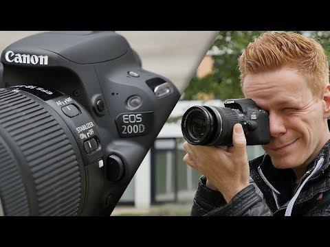 video Canon EOS 200D Digitale Spiegelreflexkamera (24,2 Megapixel, 7,7 cm (3 Zoll) Display, APS-C CMOS-Sensor, WLAN mit NFC, Full-HD, DIGIC 7) schwarz  inkl 18-55mm 1:4,0-5,6 IS STM Objektiv