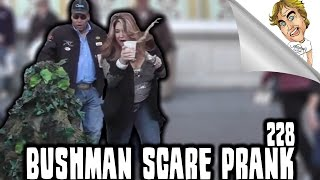 FUNNY BUSHMAN SCARE PRANK: Bushman Scares #228 | Ryan Lewis Pranks