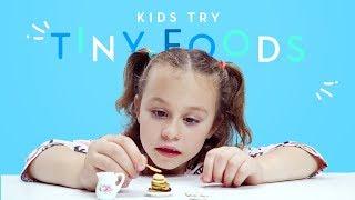Kids Try Tiny Foods | Kids Try | HiHo Kids