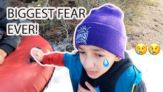 JOSIAH HAD A BREAKDOWN AT THE SNOW!