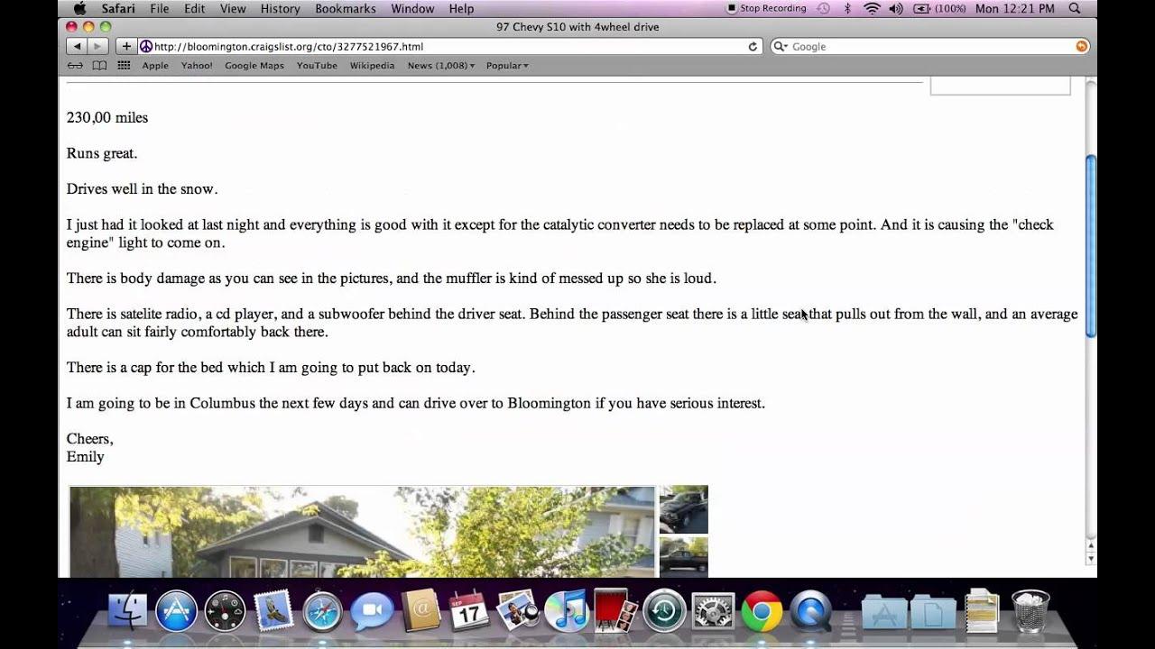Craigslist Bloomington Indiana Used Cars And Trucks