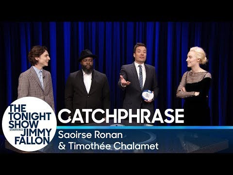 Catchphrase with Saoirse Ronan and Timothée Chalamet