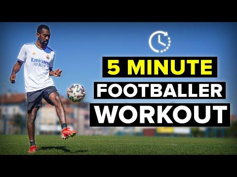 5 MINUTE WORKOUT | Improve as a footballer