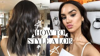 HOW TO STYLE A LOB! | DACEY CASH - YouTube