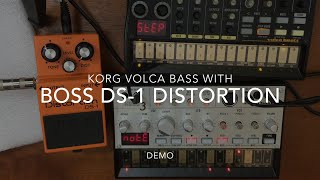 Korg Volca Bass with BOSS DS-1 Distortion