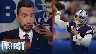 Dak had to play an A-level game for Cowboys to beat Lions & he did that | NFL | FIRST THINGS FIRST