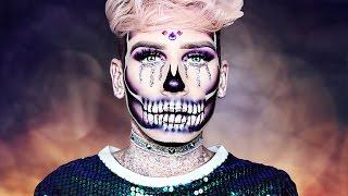 GLITTER HALF SKULL Halloween MAKEUP Tutorial! ♡ | Marvyn Macnificent