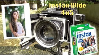 Shooting Instax Wide in ANY 4x5 Camera! No mods needed!