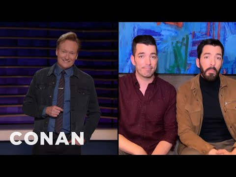 """The """"Property Brothers"""" Give Conan Advice About Buying Greenland - CONAN on TBS"""