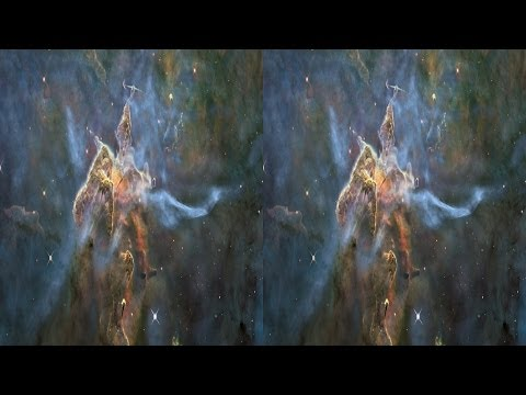Mystic Mountain 3D: Bright Pillar in the Carina Nebula