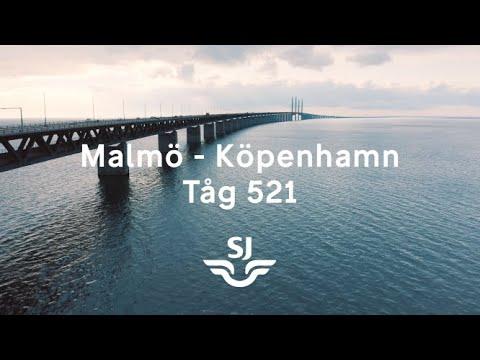 Malmö - Köpenhamn. Filmad från förarhytten på X 2000
