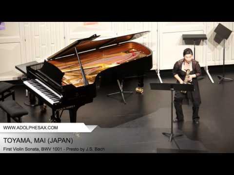 DINANT 2014 TOYAMA, MAI (First Violin Sonata, BWV 1001 - Presto by J.S. Bach)