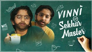 Sekhar master son Vinni's routine, enacts like his father..