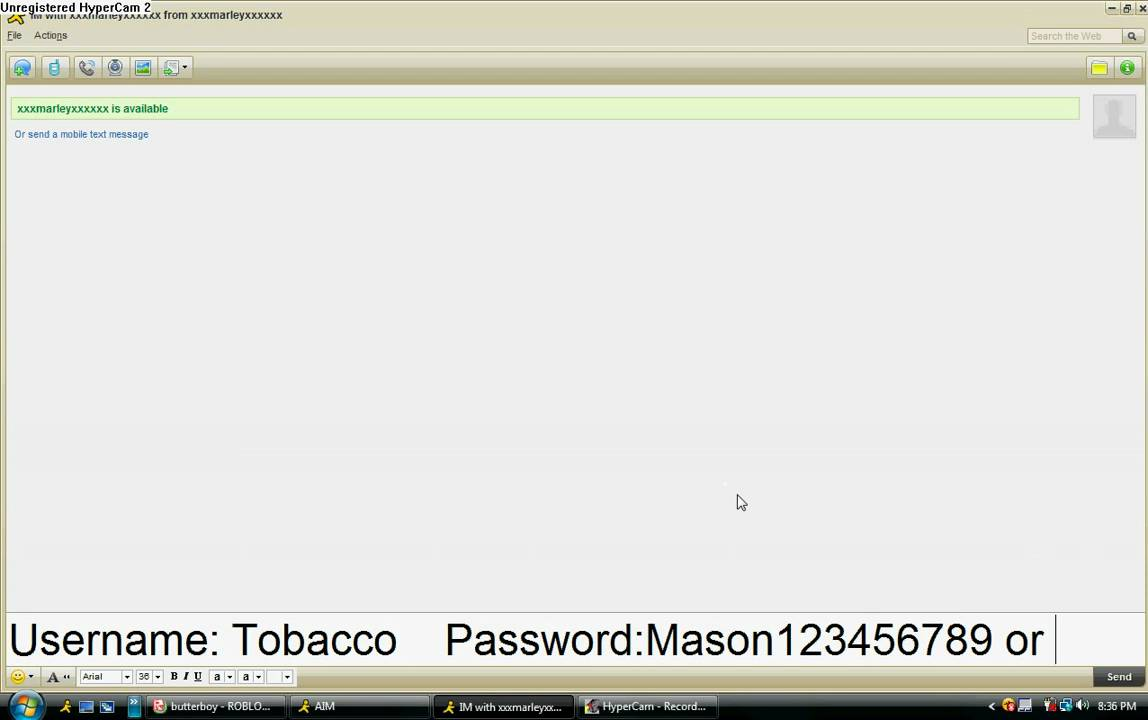 my roblox account password