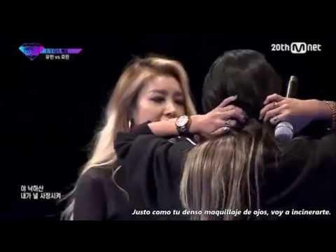  Sub Español   Yubin vs HyoRin Diss Battle [ Unpretty Rapstar Vol. 2]