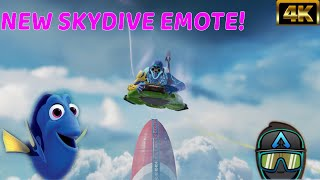 """New Apex Legends Octane Just Keep Swimming SkyDive Emote In Game! """" #4K"""