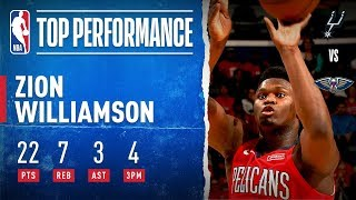 Zion CATCHES FIRE in NBA Debut, Scores 17 of 22 PTS in 4th Quarter!!