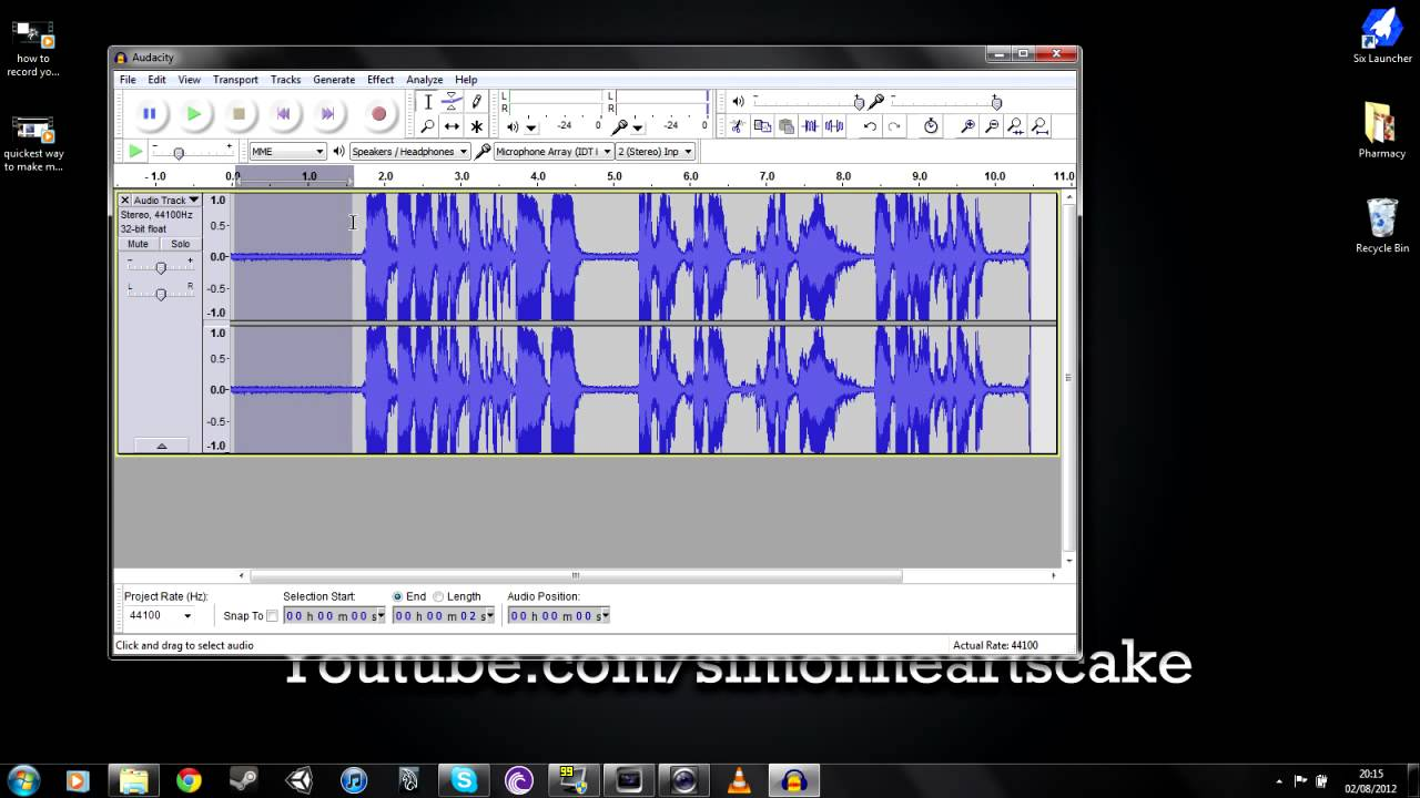 how to remove static from audio with audacity