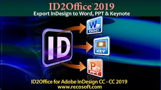 How can I convert my InDesign CC files to editable Microsoft