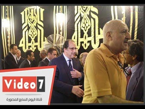 اللواء عباس كامل ووزير الانتاج الحربى فى عزاء رفعت السعيد