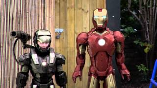 Ironman and Warmachine are late for school!!