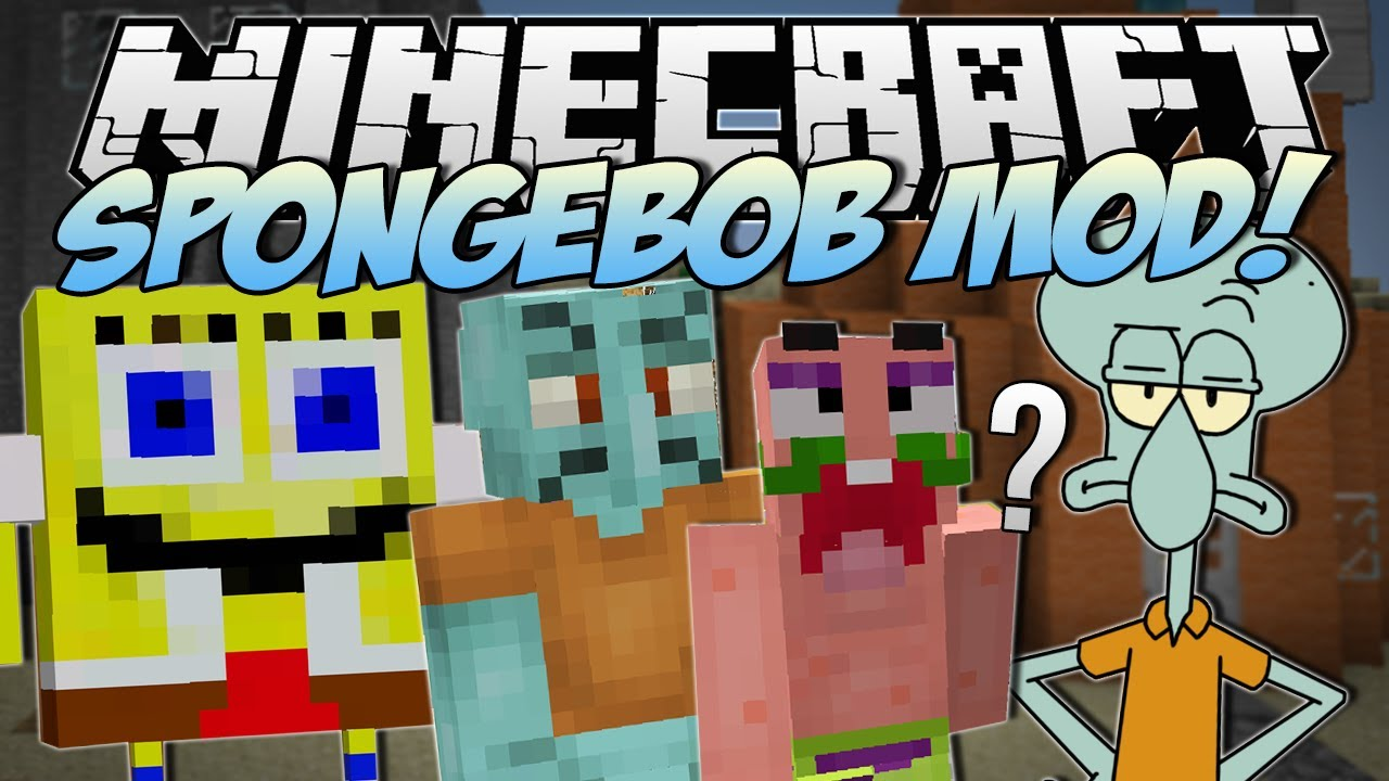 Minecraft spongebob mod i saved bikini bottom mod - Diamond minecart clones ...