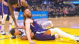 Stephen Curry Injury After Hurting His Ankle & Wrist! Warriors vs Suns 2019 NBA Season