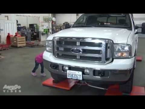 Small Children Move Full Size Ford Truck