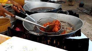 Thailand Street food Fried chicken in Phuket