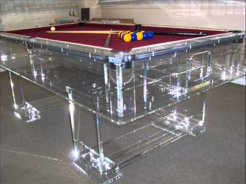 The Best Clear Acrylic Perspex Pool Table In The World