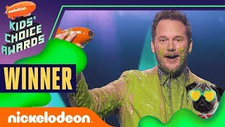 "Chris Pratt Gets Slimed & Wins ""Favorite Butt-Kicker"" for Jurassic World 