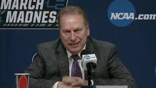 Tom Izzo & Players Formal Press Conference After Beating Bradley!