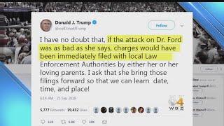 Trump Tweet Criticizes Kavanaugh Accuser