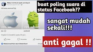 Cara buat voting di Facebook || membuat status voting di Facebook dengan mudah