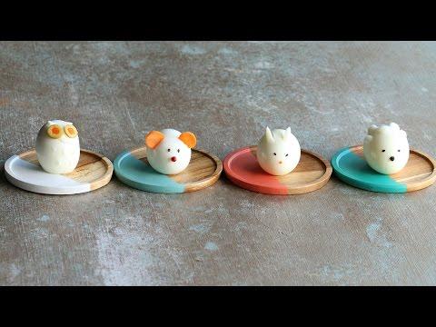 Animal-Shaped Boiled Egg 4 Ways