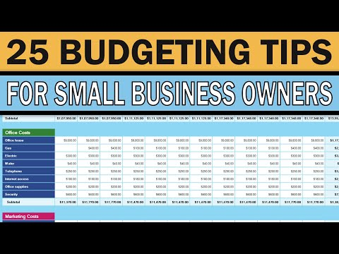 25 Business Budgeting Tips for Small Business Owners
