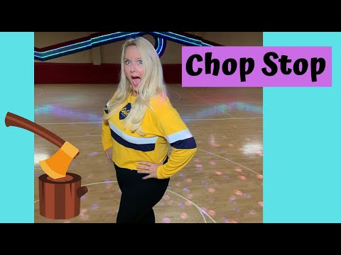 "Stopping on Roller Skates - ""Chop Stop"""
