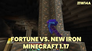 How Fortune works with Iron in 21w14a | Minecraft 1.17 21w14a | Snapshot 21w14a | Raw Iron