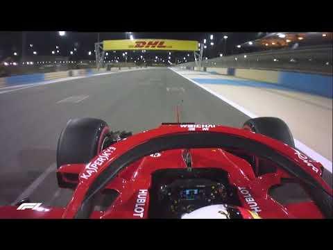 Sebastian Vettel's Pole Lap   2018 Bahrain Grand Prix