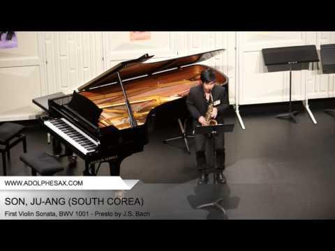Dinant 2014 SON Ju ang First Violin Sonata, BWV 1001 Presto by J S Bach