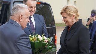 Predsjednica Kolinda Grabar Kitarović u Petrinji 07.12.2018.