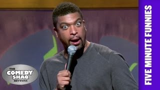DeRay Davis⎢Stuff Men Can't Do For One Another Anymore⎢Shaq's Five Minute Funnies⎢Comedy Shaq