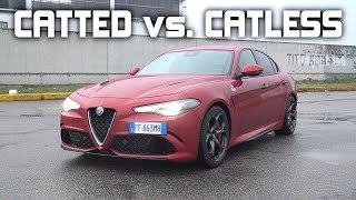 Alfa Romeo Giulia Quadrifoglio Catted vs. Catless Exhaust Sound Comparison!