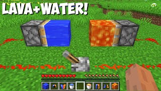 What HAPPENS if you COMBINE LAVA BLOCK AND WATER BLOCK in Minecraft ? LAVA VS WATER !