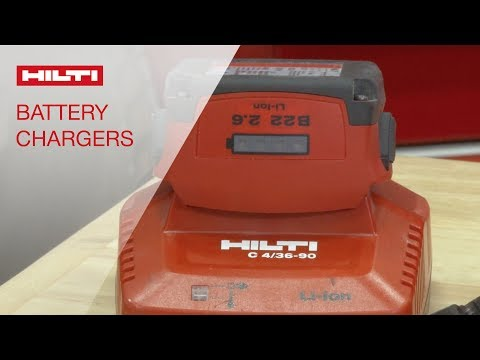 REVIEW of Hilti battery charger portfolio