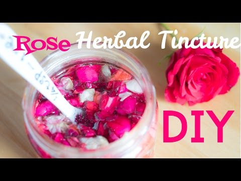 Herbal Tinctures: Rose Glycerite - Anti Aging Skin Care Ingredient for your homemade cosmetics