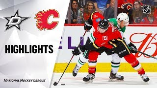 NHL Highlights | Stars @ Flames 11/13/19
